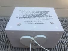Shabby Personalised Chic Bridesmaid Maid Of Honour Wedding Keepsake Gift Box - 232211430292